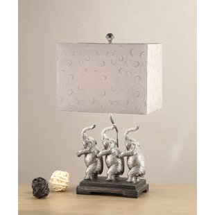 Park Ridge Elephants Stand Rectangular Shade 25 Table Lamp (Set of 2)