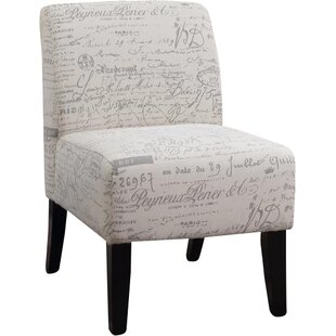 Lark Manor Tourmalet Script Slipper Chair