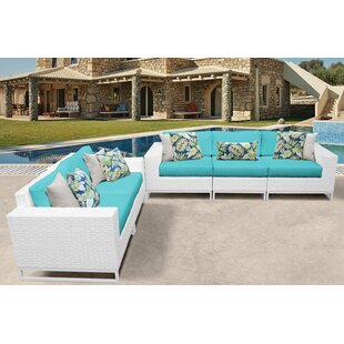 Miami 5 Piece Sofa Seating Group with Cushions