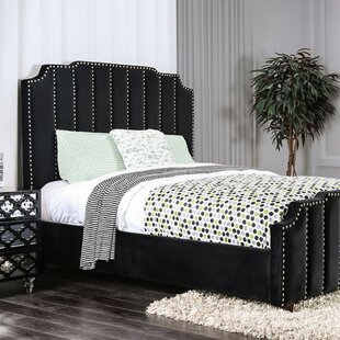 Linton Padded Lannelette Fabric Upholstered Panel Bed