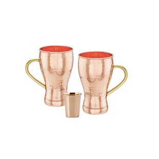 Moscow Mule 3 Piece Copper Assorted Glassware Set