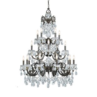Astoria Grand Markenfield 20-Light Candle Style Chandelier
