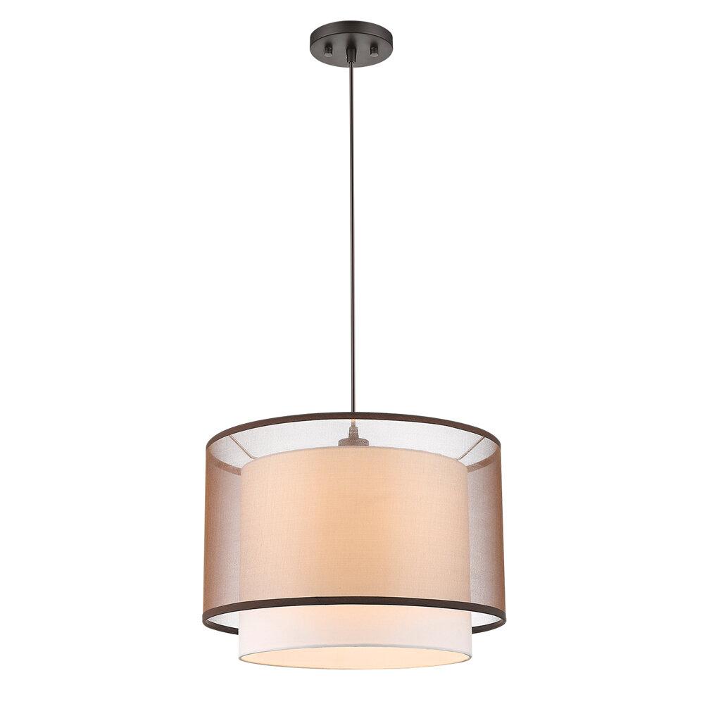 Ebern Designs Feltner 1 Light Single Drum Pendant Wayfair