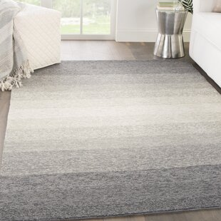Sarno Hand-Hooked Ombre Blue/Overcast Indoor/Outdoor Area Rug