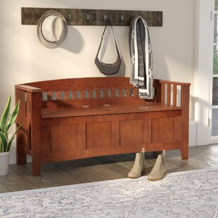 Three Posts Hoang Wood Storage Bench