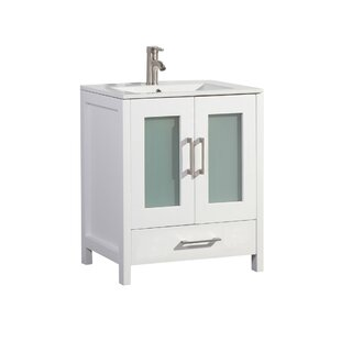 Compare prices Larrick 24 Single Bathroom Vanity By Latitude Run