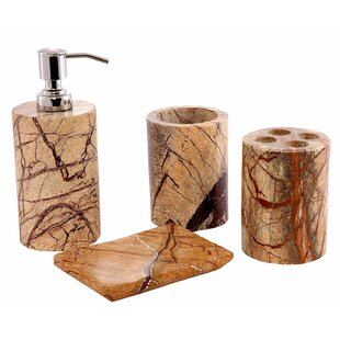 Fray Contemporary 4 Piece Bathroom Accessory Set by Millwood Pines