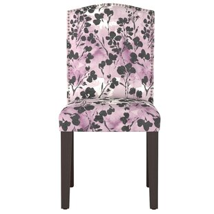 Mireille Camel Back Floral Upholstered Dining Chair Latitude Run