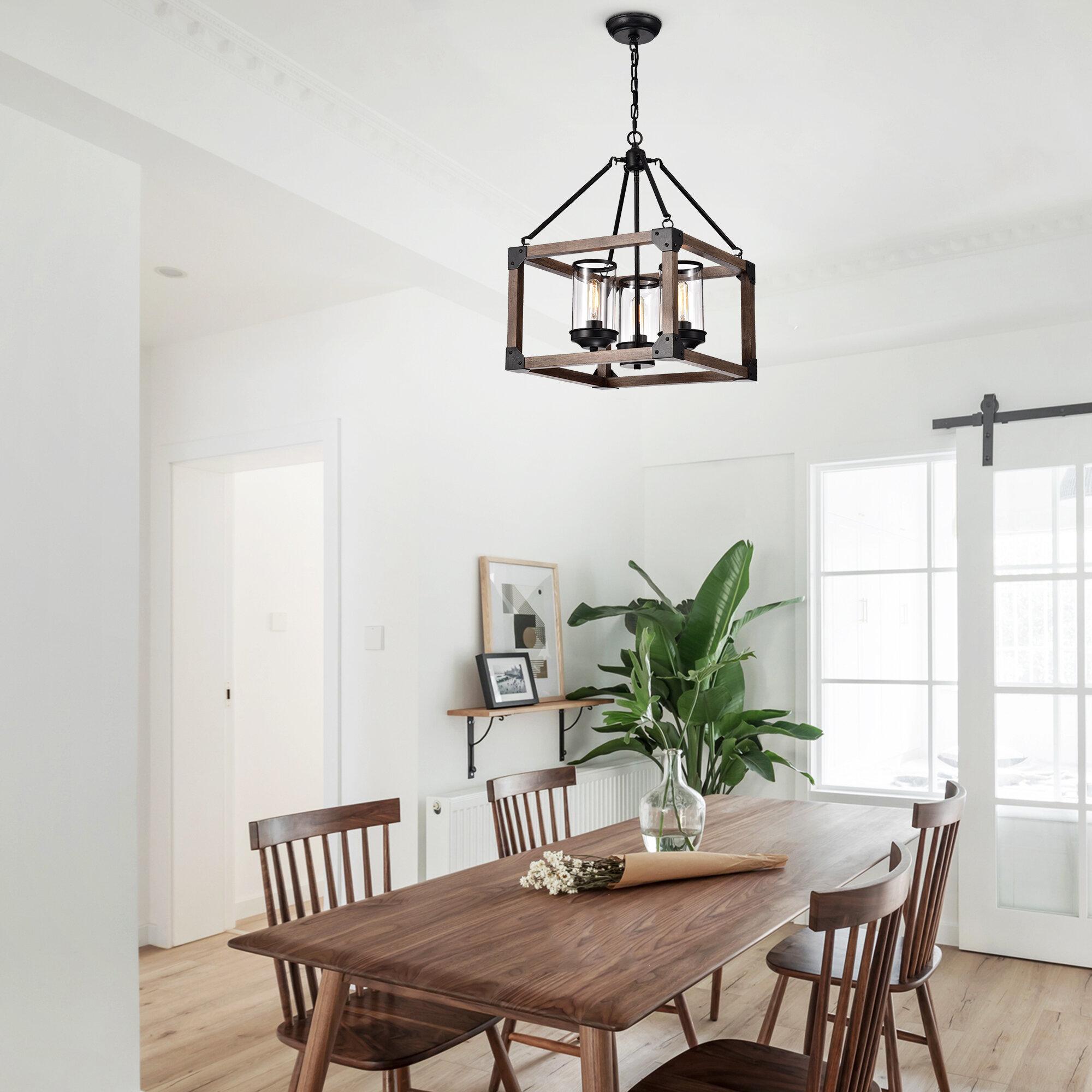 Gracie Oaks Trawick 3 Light Lantern Square Chandelier Reviews Wayfair