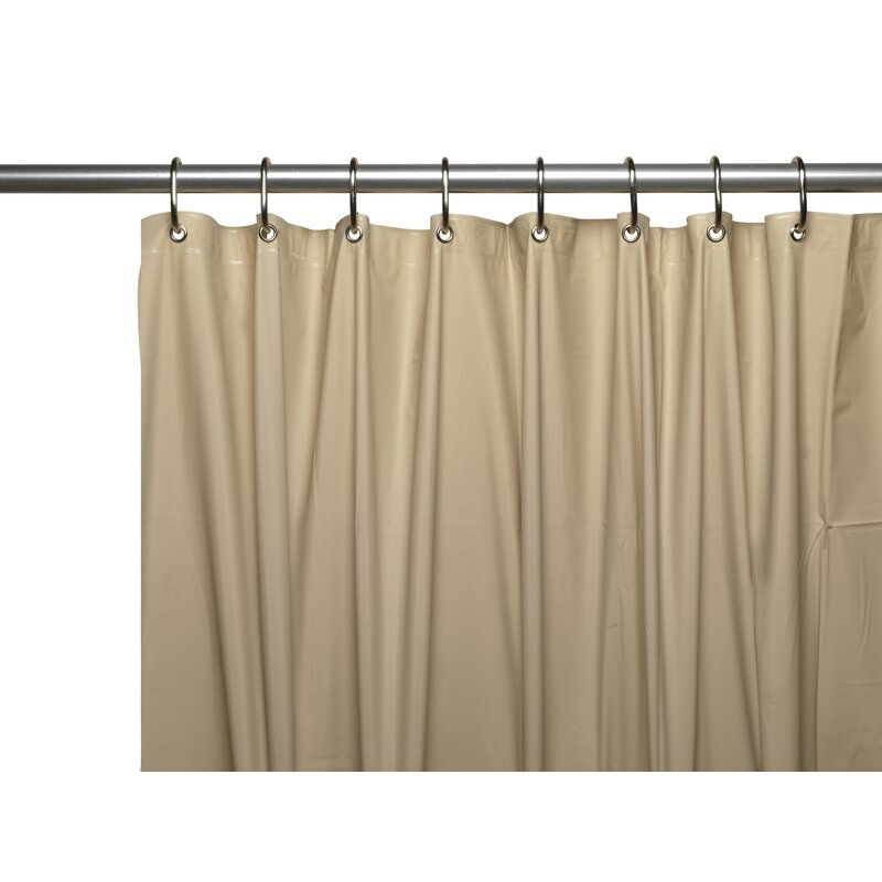 VINYL SHOWER CURTAIN LINER with METAL GROMMETS /& MAGNETS