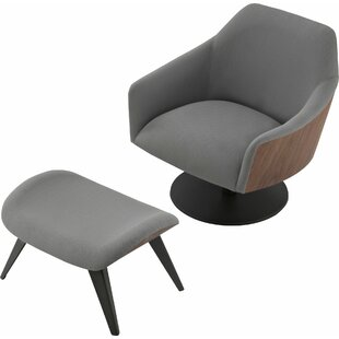 Modloft Henry Swivel Lounge Chair and Ottoman