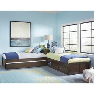 Granville Storage Twin Platform L-Shaped Bed with Trundle