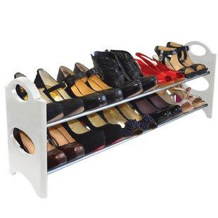 Find 2-Tier 10 Pair Shoe Rack By Rebrilliant