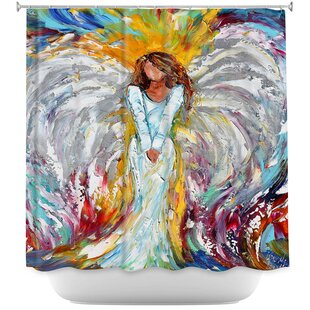Angel Watching Over Me Single Shower Curtain