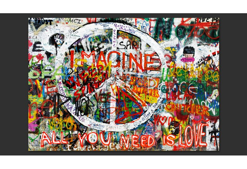 Hippie Graffiti 2.1m x 300cm Wallpaper