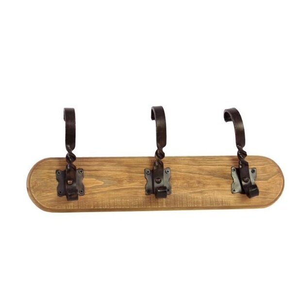Monte Sereno Robust Small Wooden Wall Mounted Coat Rack