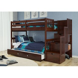 Shop For Vao Stairway Twin Over Twin Bed with Trundle by Harriet Bee Reviews (2019) & Buyer's Guide
