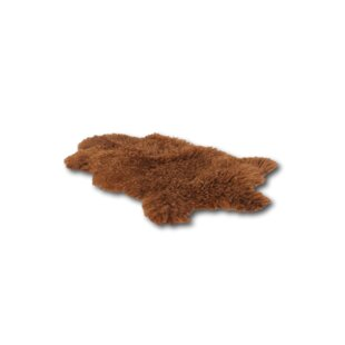 Crystal Handwoven Sheepskin Brown Rug by Norden Home