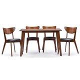 Urijah 5 Piece Solid Wood Dining Set