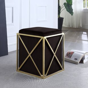 Ayoub Cube Ottoman by Everly Quinn