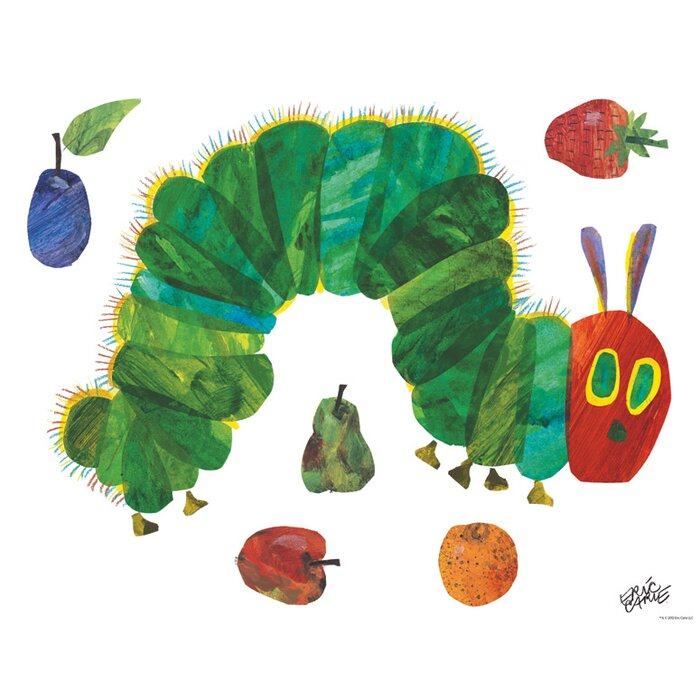 Eric Carleu0027s Very Hungry Caterpillar (TM)   Small Peel And Place Wall Decal Part 43