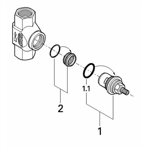 Grohe Volume Control Rough In Valve