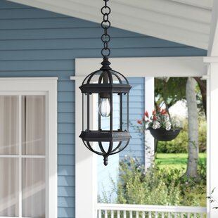 Comparison Hartshorne 1-Light Outdoor Hanging Lantern By Three Posts