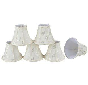 6 Fabric Bell Candelabra Shade (Set of 6)