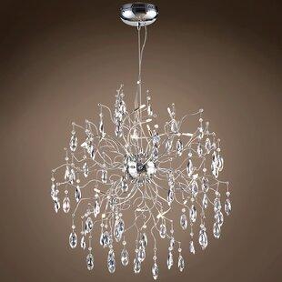 Rosdorf Park Silvestre 12-Light Crystal Chandelier