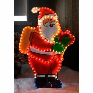 Santa Silhouette Christmas Rope Lighted Display By The Seasonal Aisle