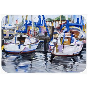 Sailboats Glass Cutting Board