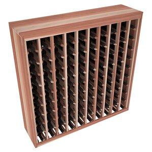 karnes redwood deluxe 100 bottle floor wine rack