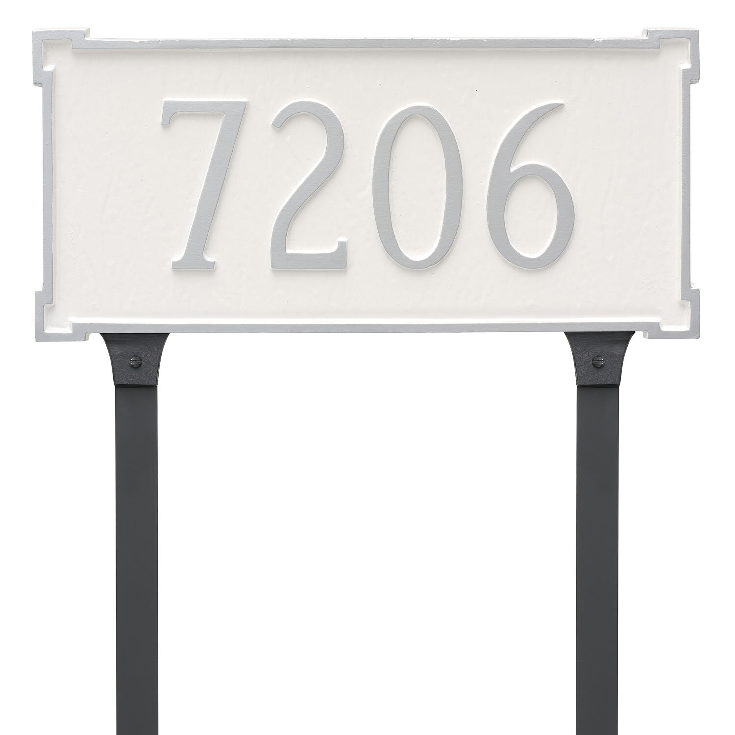 Montague Metal Products New Yorker 1 Line Lawn Address Sign Wayfair