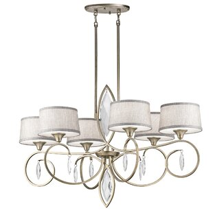 Claudine 6-Light Shaded Chandelier by Willa Arlo Interiors