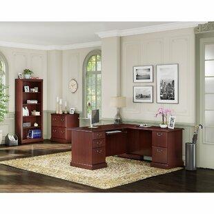 Kathy Ireland Office by Bush Bennington 3 Piece L-Shape Office Desk Suite