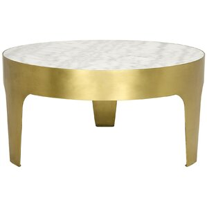 Cylinder Round Metal Coffee Table by Noir