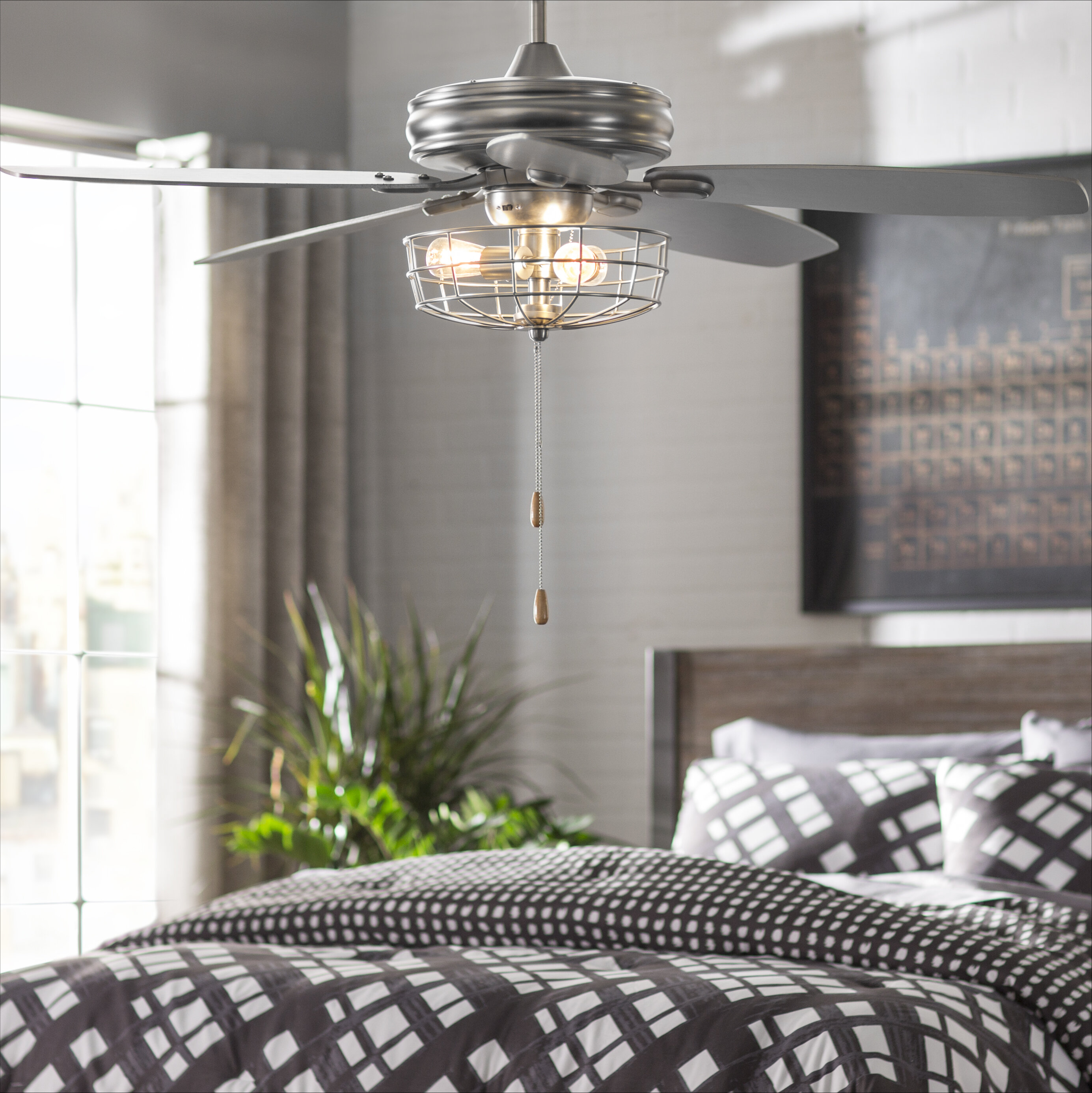 Trent Austin Design 52 Kyla 5 Blade Standard Ceiling Fan With Pull Chain And Light Kit Included Reviews Wayfair