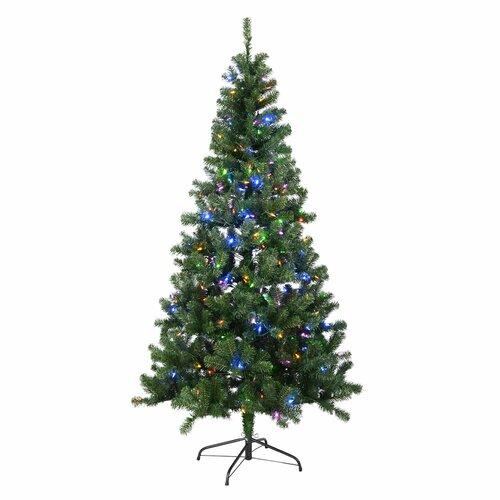 Künstlicher Weihnachtsbaum 213 cm Grün mit 400 Leuchten in Bunt und Weiß mit Ständer Cressing Die Saisontruhe   Weihnachten > Weihnachtsbeleuchtung   Die Saisontruhe