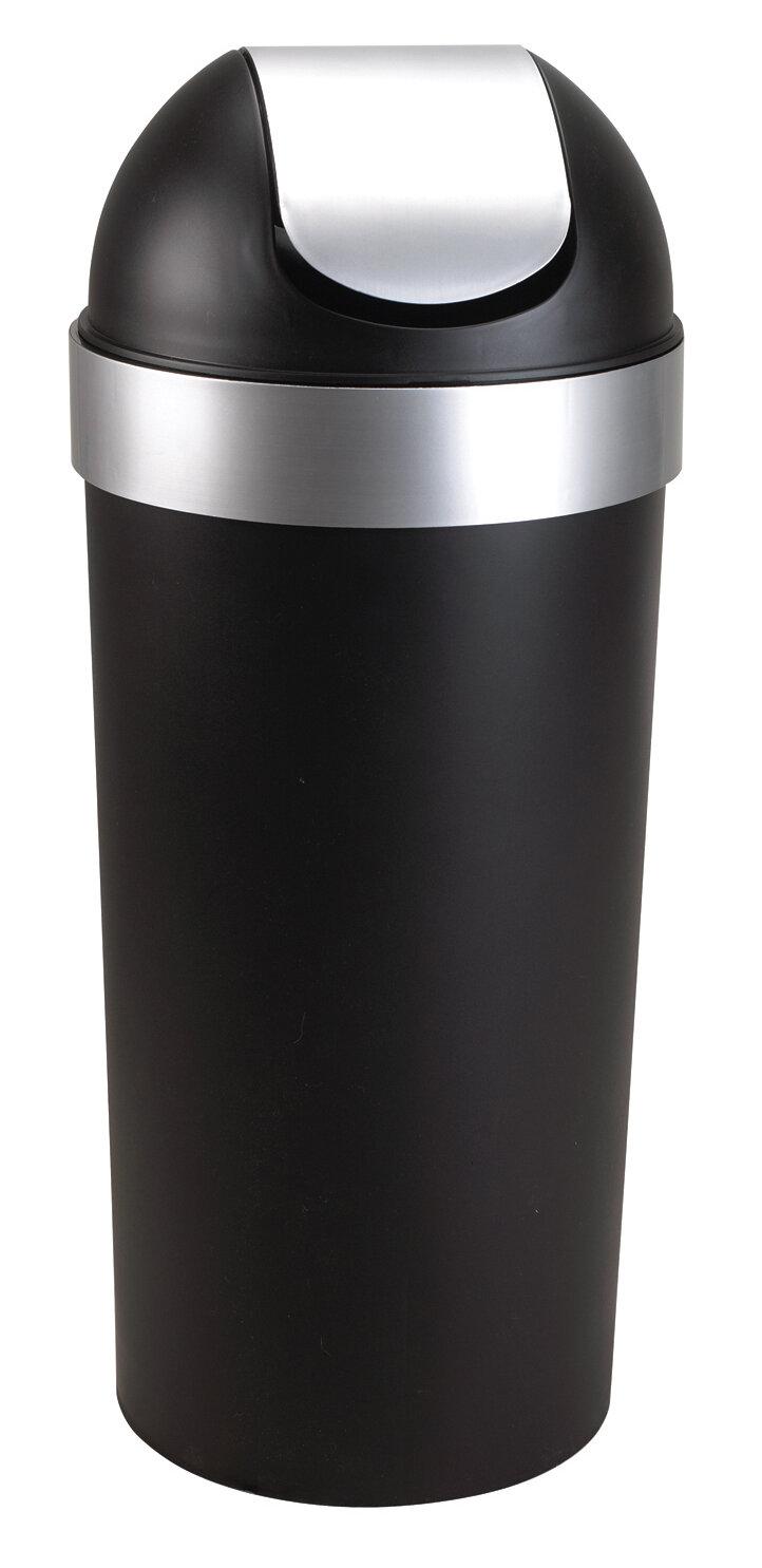 umbra venti 16 5 gallon swing top trash can reviews wayfair. Black Bedroom Furniture Sets. Home Design Ideas