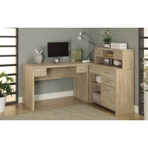 Milford L Shaped Computer Desk With Hutch