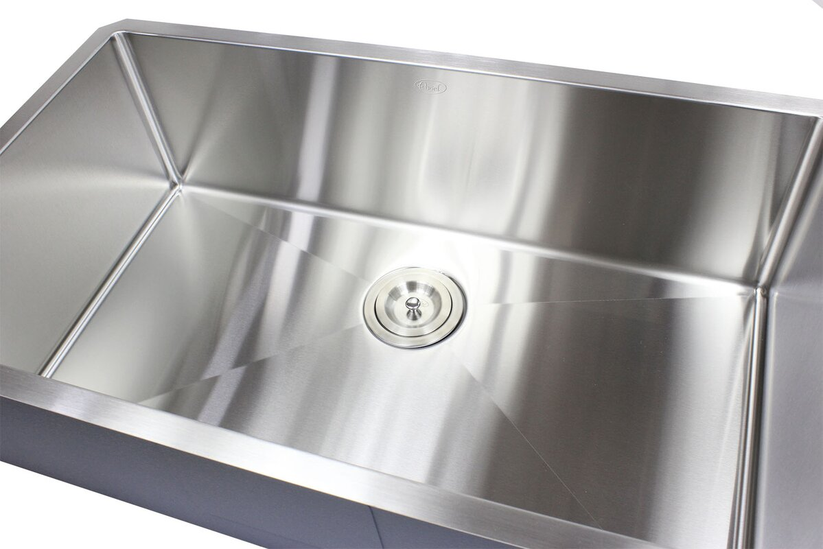 Ariel Premium Stainless Steel  Undermount Kitchen Sink With Sink Grid And
