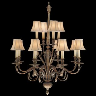 Fine Art Lamps Verona 12-Light Shaded Chandelier