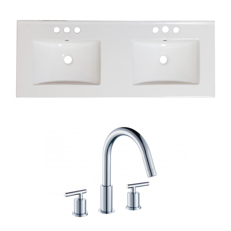 Wrought Studio Anirudh Ceramic 48 Double Bathroom Vanity Top Wayfair