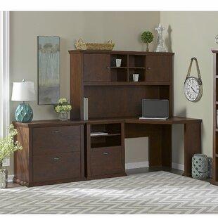 Three Posts Ferrell 4 Piece L-Shape Wood Desk Office Suite