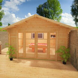 Siberian 16 X 14 Ft. Tongue And Groove Log Cabin By Tiger Sheds