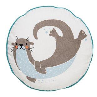 Davon Sea Otter Cotton Throw Pillow