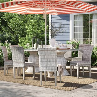 Falmouth 9 Piece Aluminum Frame Outdoor Dining Set