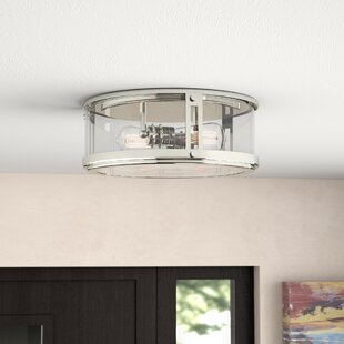 Gines 2-Light Flush Mount by Brayden Studio