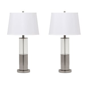 Modern contemporary table lamps allmodern eason 28 table lamp set set of 2 aloadofball Image collections