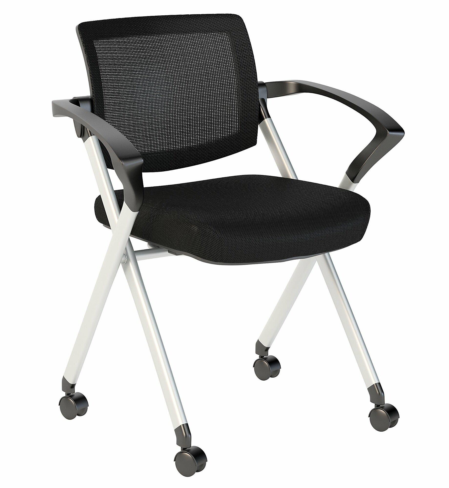 Image of: Bush Business Furniture Fabric Padded Folding Chair Wayfair